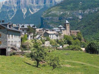 La localidad de Bielsa en Aragón