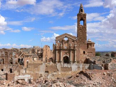 El pueblo abandonado de Belchite en Zaragoza